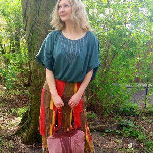 Me Made Hand Dyed Dolman Sleeved Boho Dress (M/L)